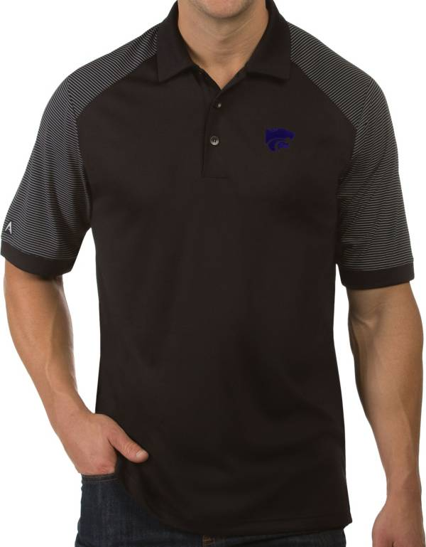 Antigua Men's Kansas State Wildcats Engage Performance Black Polo product image