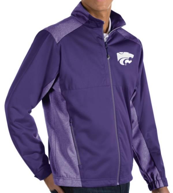 Antigua Men's Kansas State Wildcats Purple Revolve Full-Zip Jacket product image