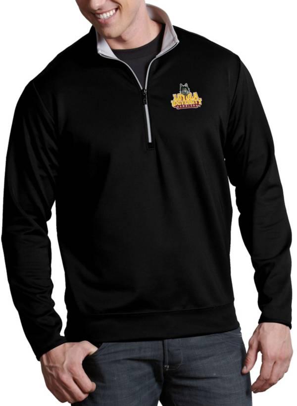 Antigua Men's Loyola Chicago Ramblers Leader Full-Zip Black Jacket product image