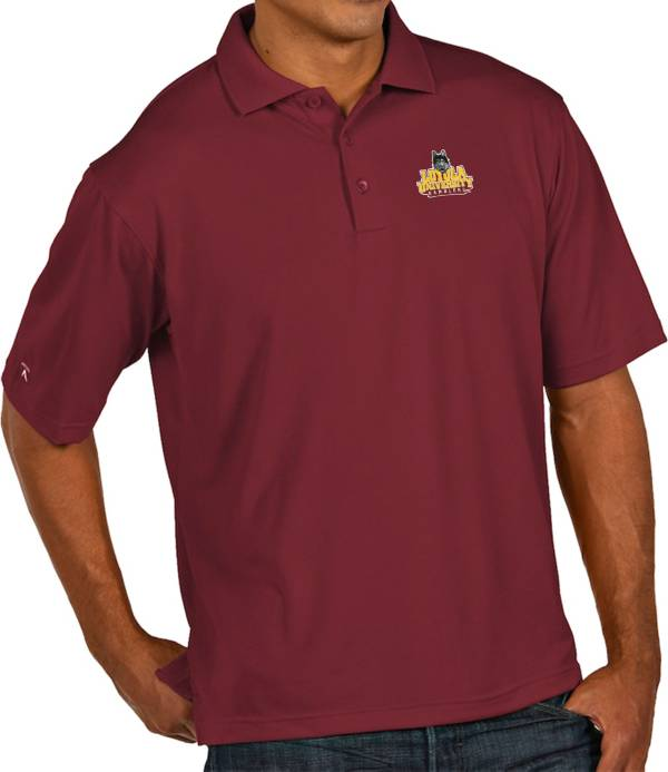 Antigua Men's Loyola Chicago Ramblers Maroon Pique Xtra-Lite Polo product image