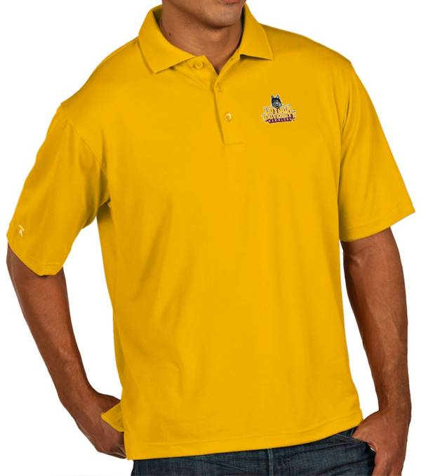 Antigua Men's Loyola Chicago Ramblers Gold Pique Xtra-Lite Polo product image