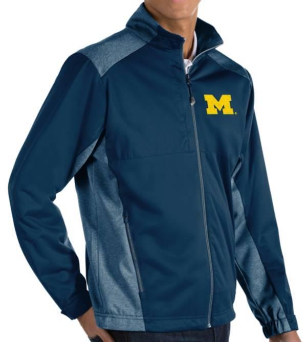 Antigua Men's Michigan Wolverines Blue Revolve Full-Zip Jacket product image