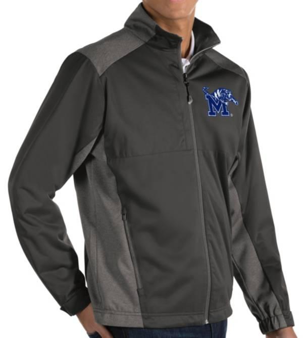 Antigua Men's Memphis Tigers Grey Revolve Full-Zip Jacket product image