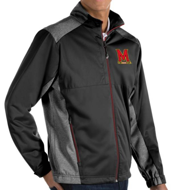 Antigua Men's Maryland Terrapins Revolve Full-Zip Black Jacket product image