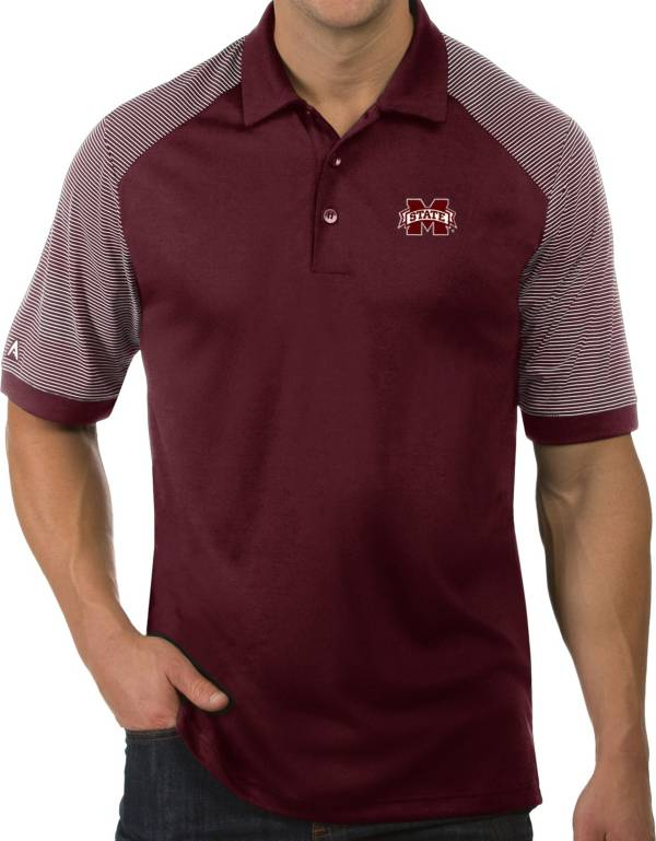 Antigua Men's Mississippi State Bulldogs Maroon Engage Performance Polo product image