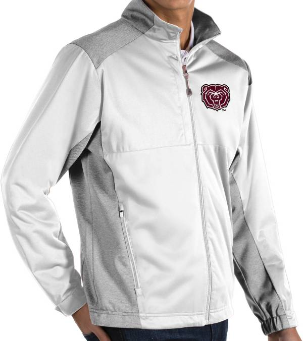 Antigua Men's Missouri State Bears Revolve Full-Zip White Jacket product image