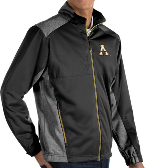 Antigua Men's Appalachian State Mountaineers Revolve Full-Zip Black Jacket product image