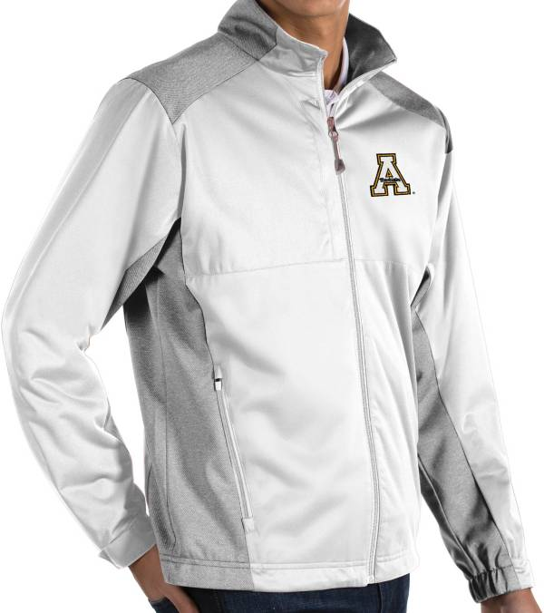 Antigua Men's Appalachian State Mountaineers White Revolve Full-Zip Jacket product image