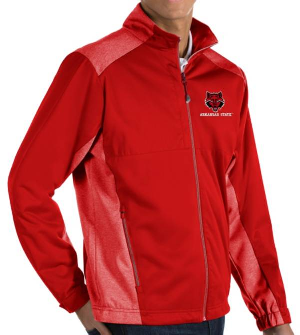 Antigua Men's Arkansas Razorbacks Cardinal Revolve Full-Zip Jacket product image