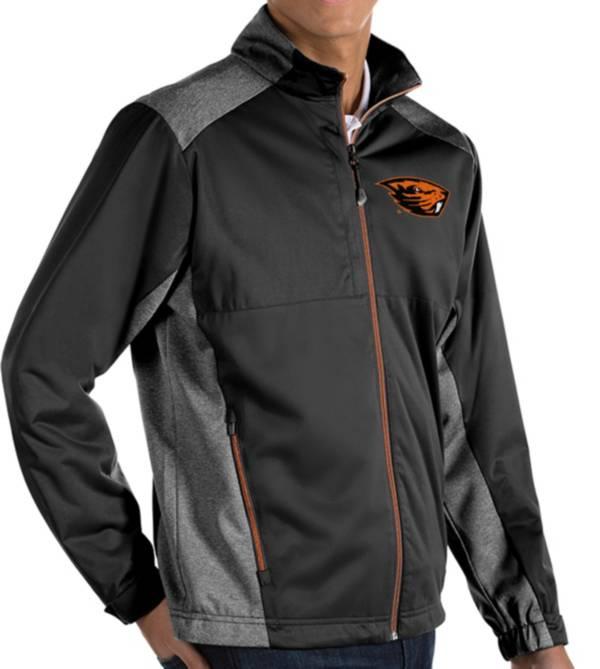 Antigua Men's Oregon State Beavers Revolve Full-Zip Black Jacket product image