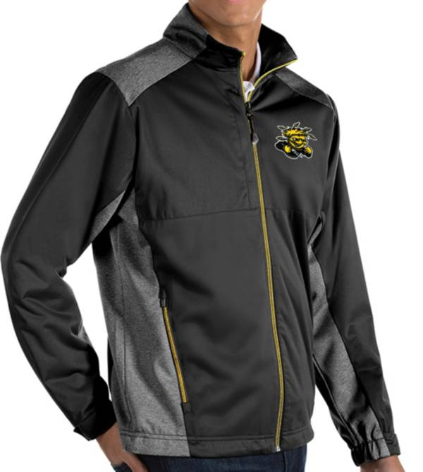 Antigua Men's Wichita State Shockers Revolve Full-Zip Black Jacket product image