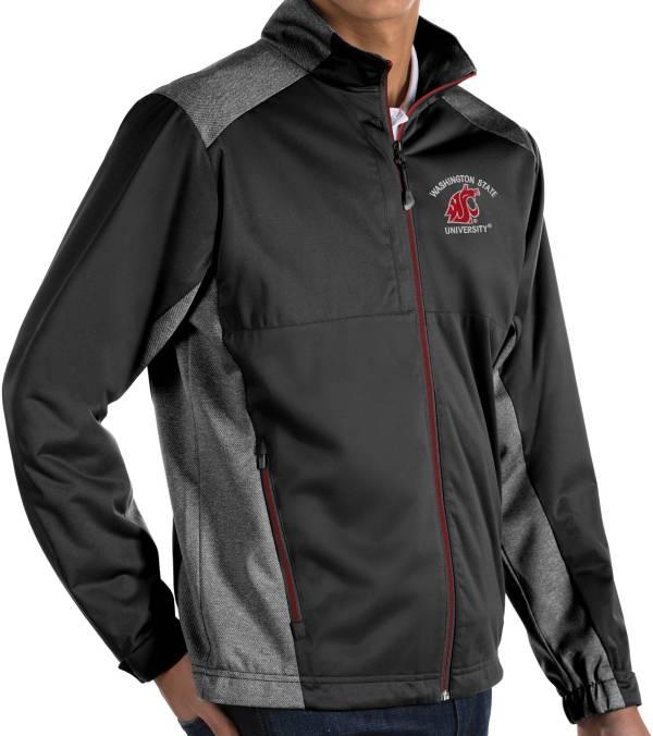 Antigua Men's Washington State Cougars Revolve Full-Zip Black Jacket product image