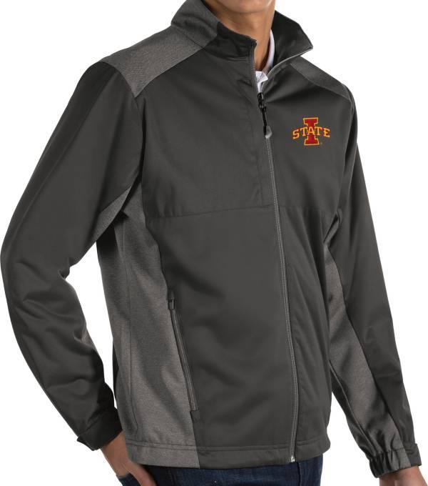 Antigua Men's Iowa State Cyclones Grey Revolve Full-Zip Jacket product image