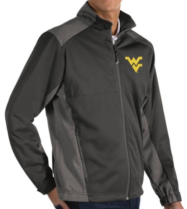 Antigua Men's West Virginia Mountaineers Grey Revolve Full-Zip Jacket product image