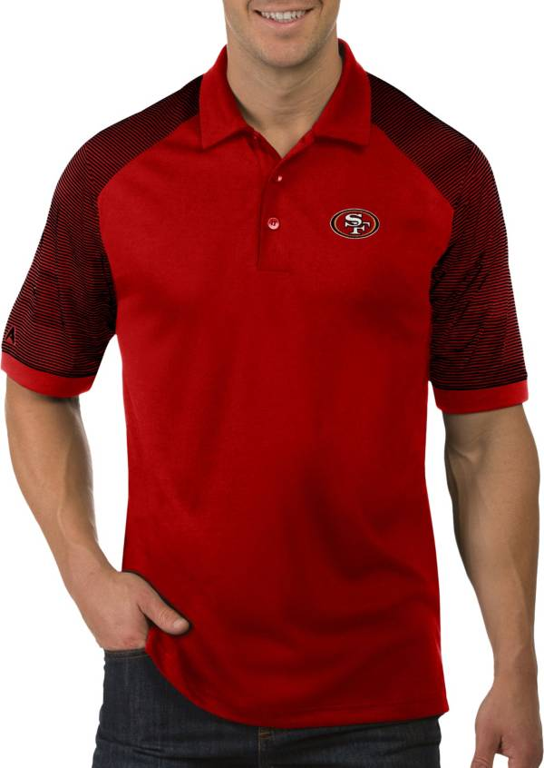 Antigua Men's San Francisco 49ers Engage Red Performance Polo product image