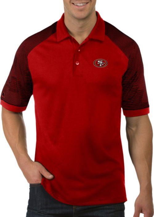 e4679a47333 Antigua Men s San Francisco 49ers Engage Red Performance Polo.  noImageFound. 1