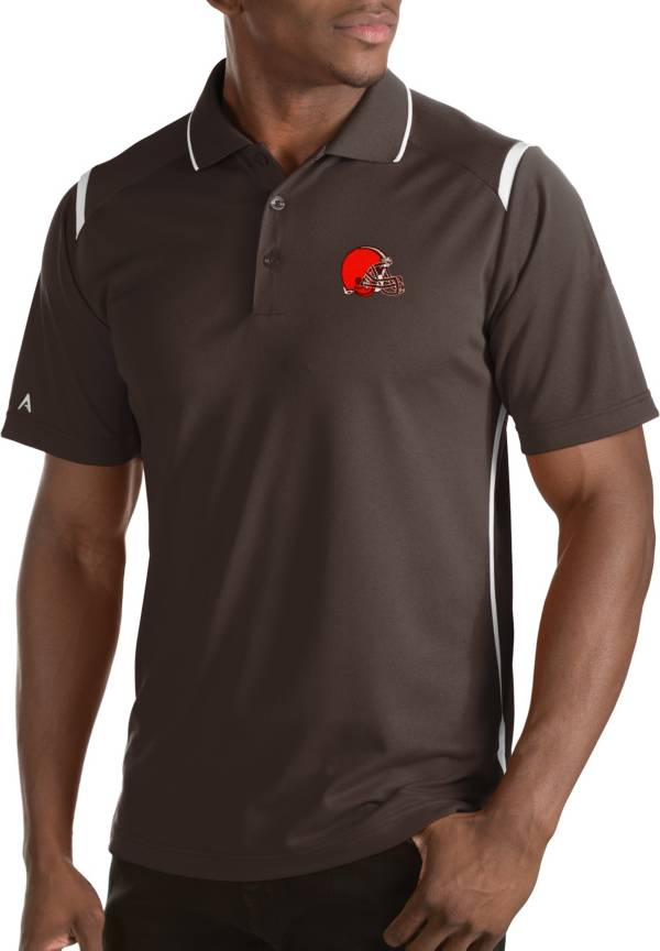 Antigua Men's Cleveland Browns Merit Brown Xtra-Lite Polo product image
