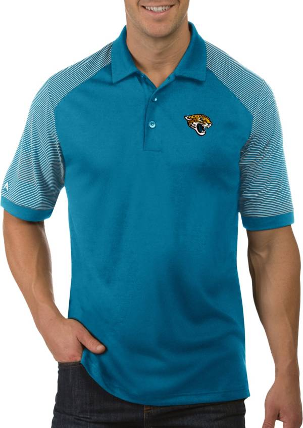 Antigua Men's Jacksonville Jaguars Engage Teal Performance Polo product image