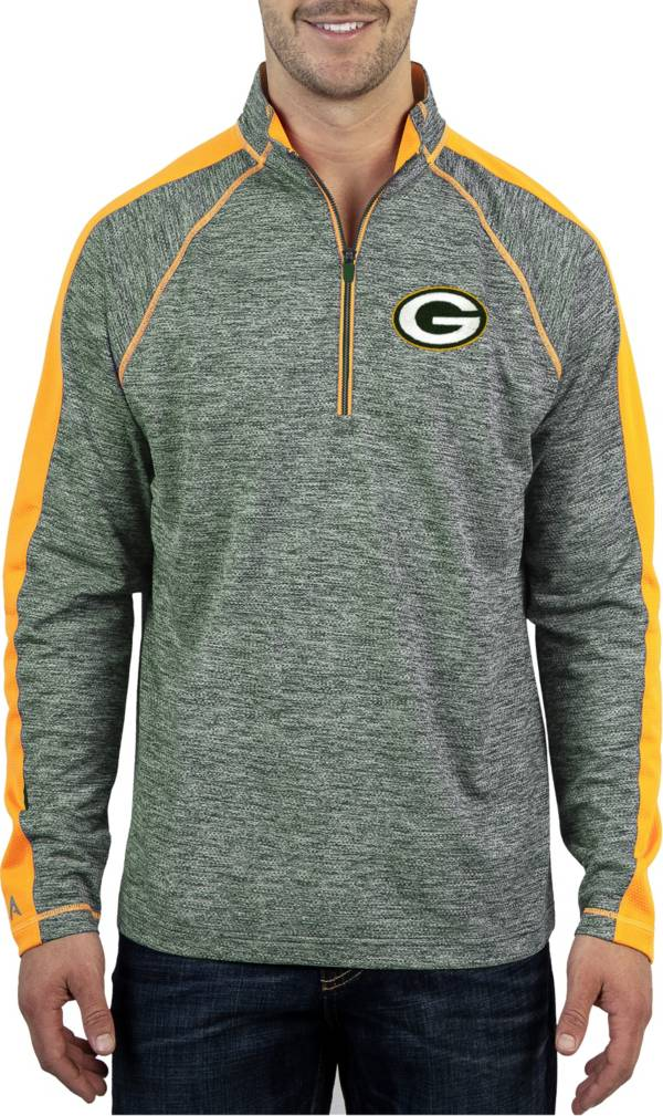 Antigua Men's Green Bay Packers Advantage Green Quarter-Zip Pullover product image