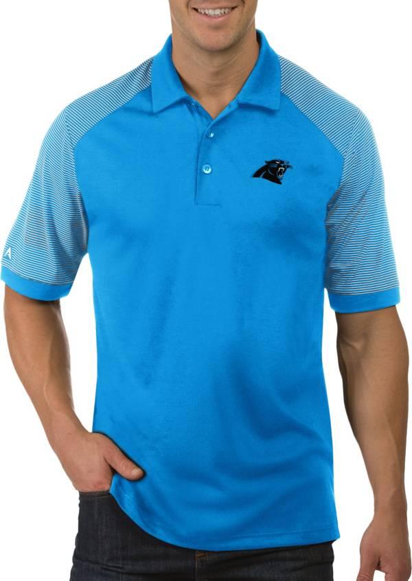 Antigua Men's Carolina Panthers Engage Blue Performance Polo product image