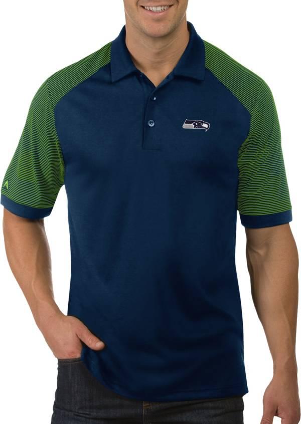 Antigua Men's Seattle Seahawks Engage Navy Performance Polo product image