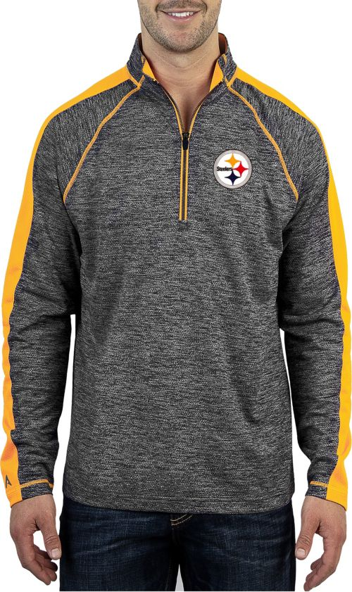 Antigua Men s Pittsburgh Steelers Advantage Black Quarter-Zip Pullover.  noImageFound. 1 d12c54f63