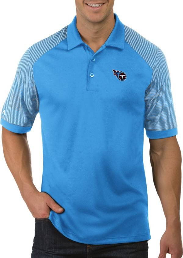 Antigua Men's Tennessee Titans Engage Blue Performance Polo product image