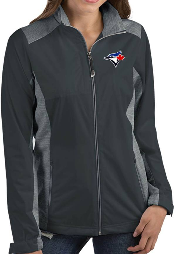 Antigua Women's Toronto Blue Jays Revolve Grey Full-Zip Jacket product image