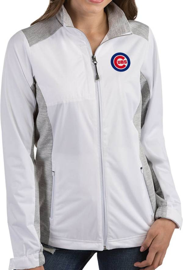 Antigua Women's Chicago Cubs Revolve White Full-Zip Jacket product image
