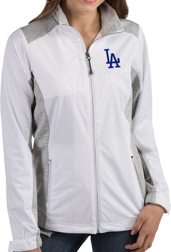 Antigua Women's Los Angeles Dodgers Revolve White Full-Zip Jacket product image