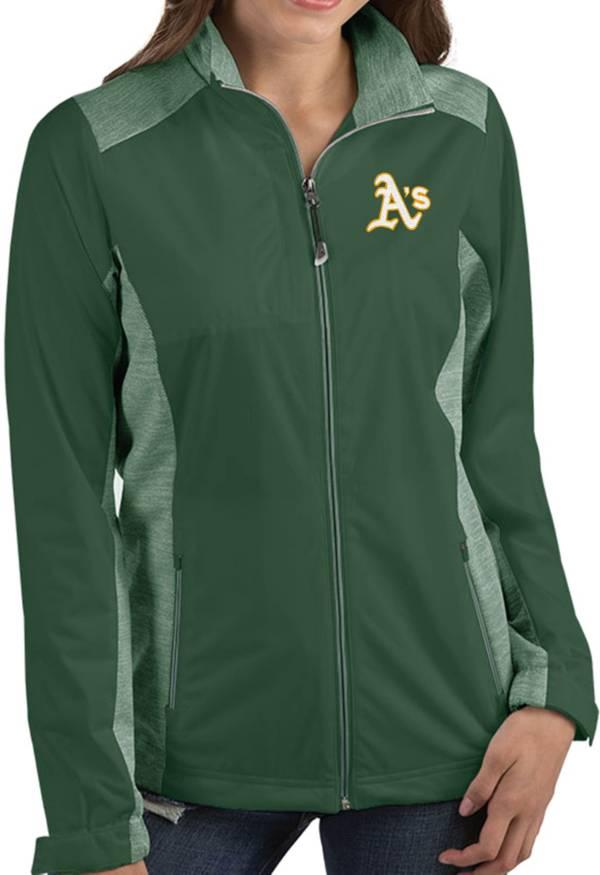 Antigua Women's Oakland Athletics Revolve Green Full-Zip Jacket product image