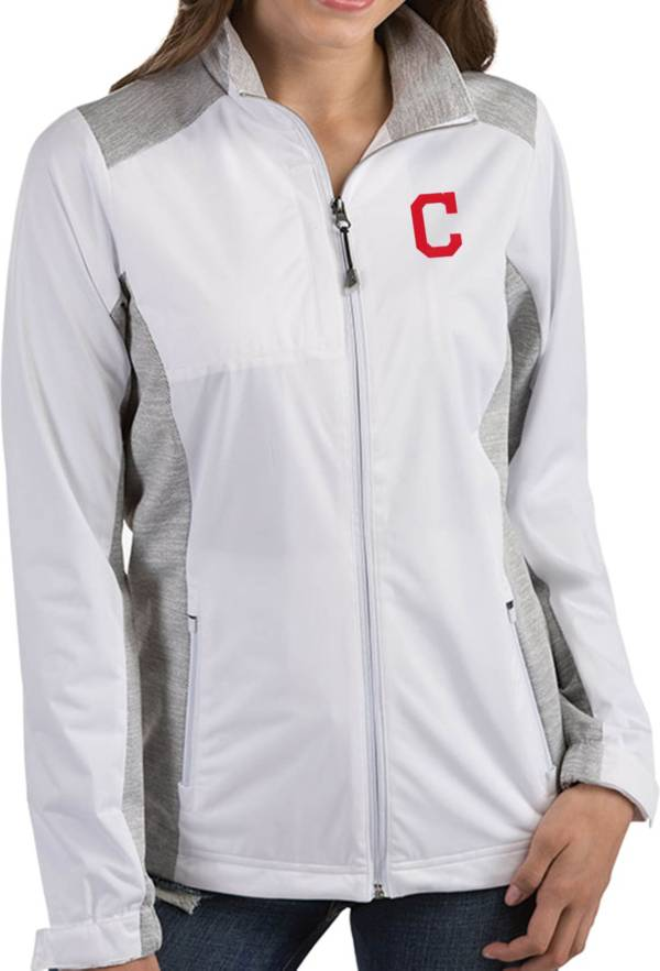 Antigua Women's Cleveland Indians Revolve White Full-Zip Jacket product image