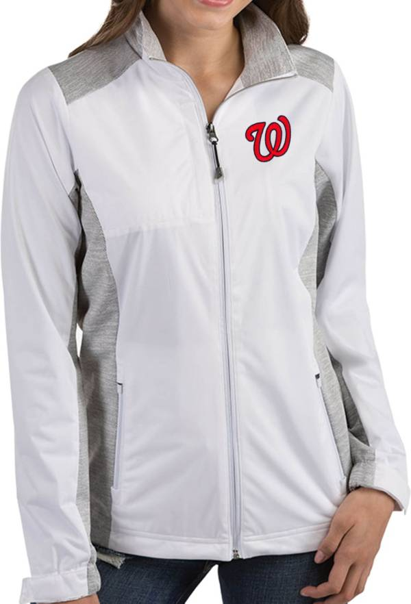Antigua Women's Washington Nationals Revolve White Full-Zip Jacket product image