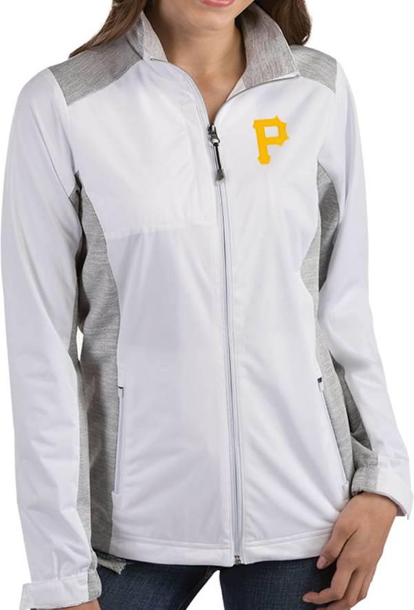 Antigua Women's Pittsburgh Pirates Revolve White Full-Zip Jacket product image