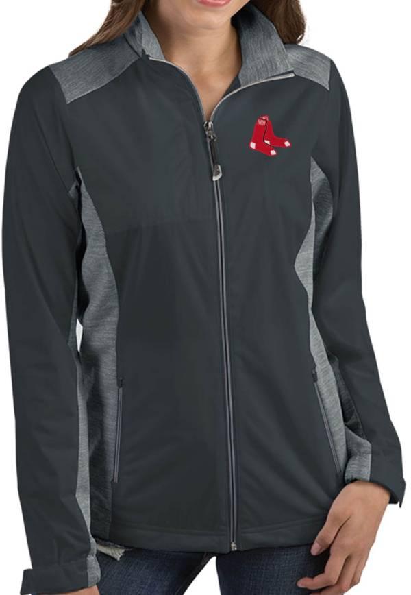 Antigua Women's Boston Red Sox Revolve Grey Full-Zip Jacket product image