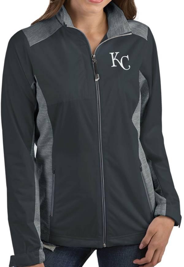 Antigua Women's Kansas City Royals Revolve Grey Full-Zip Jacket product image
