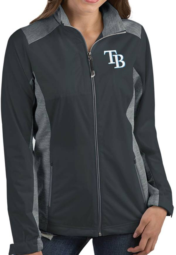 Antigua Women's Tampa Bay Rays Revolve Grey Full-Zip Jacket product image