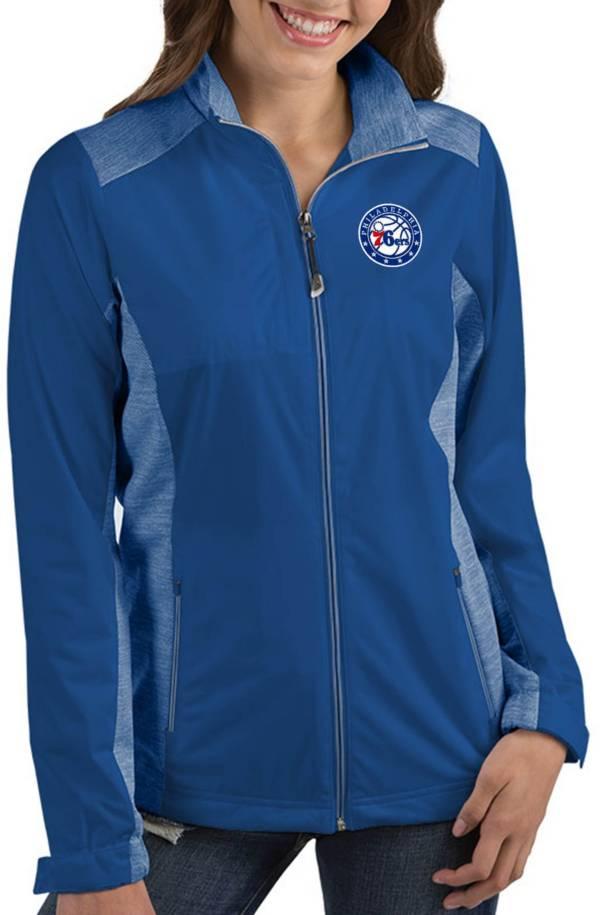 Antigua Women's Philadelphia 76ers Revolve Full-Zip Jacket product image