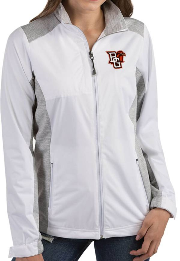 Antigua Women's Bowling Green Falcons Revolve Full-Zip White Jacket product image
