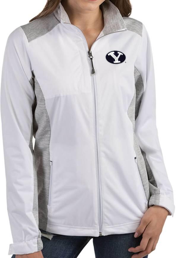 Antigua Women's BYU Cougars Revolve Full-Zip White Jacket product image