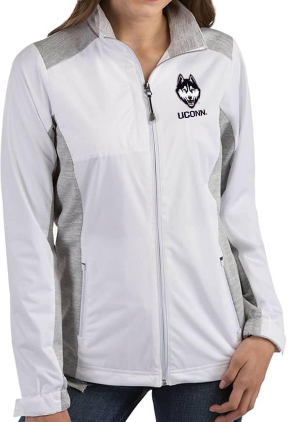 Antigua Women's UConn Huskies Revolve Full-Zip White Jacket product image