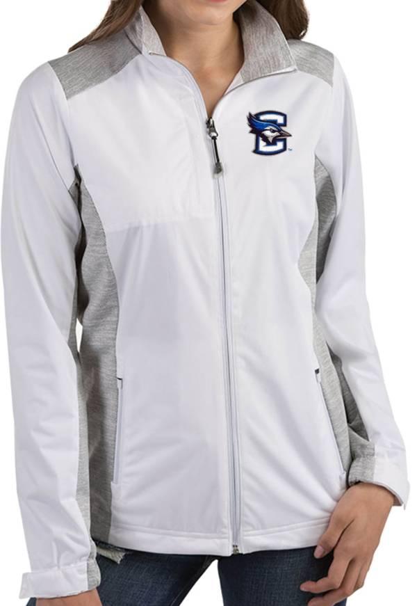 Antigua Women's Creighton Bluejays Revolve Full-Zip White Jacket product image