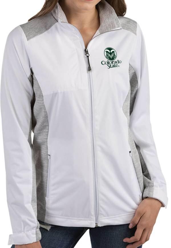 Antigua Women's Colorado State Rams Revolve Full-Zip White Jacket product image