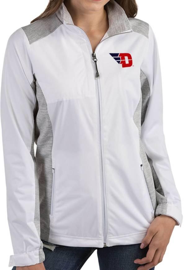 Antigua Women's Dayton Flyers Revolve Full-Zip White Jacket product image