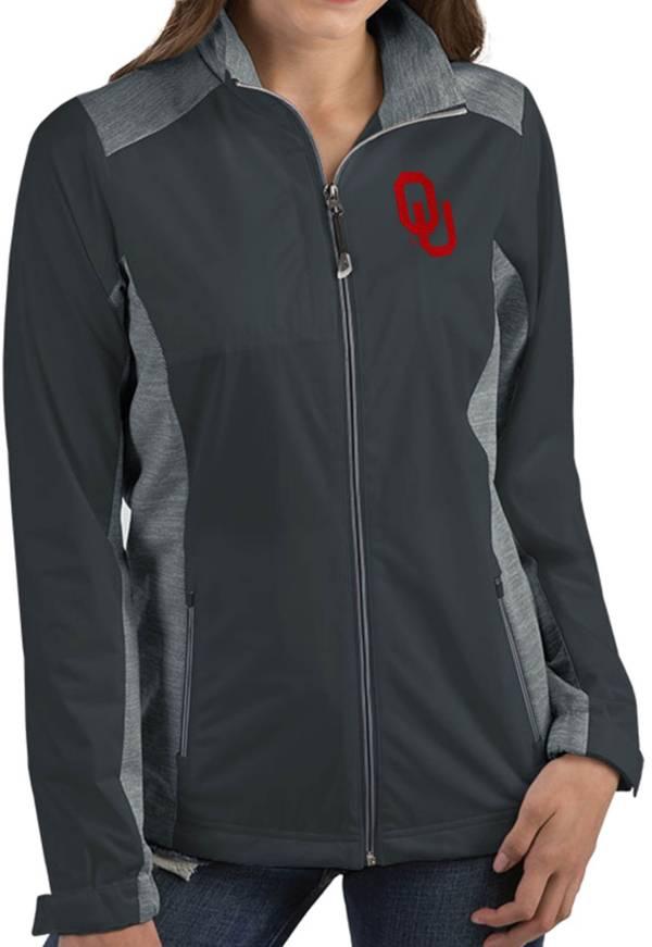 Antigua Women's Oklahoma Sooners Grey Revolve Full-Zip Jacket product image