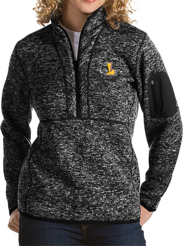 Antigua Women's Loyola Chicago Ramblers Fortune Pullover Black Jacket product image
