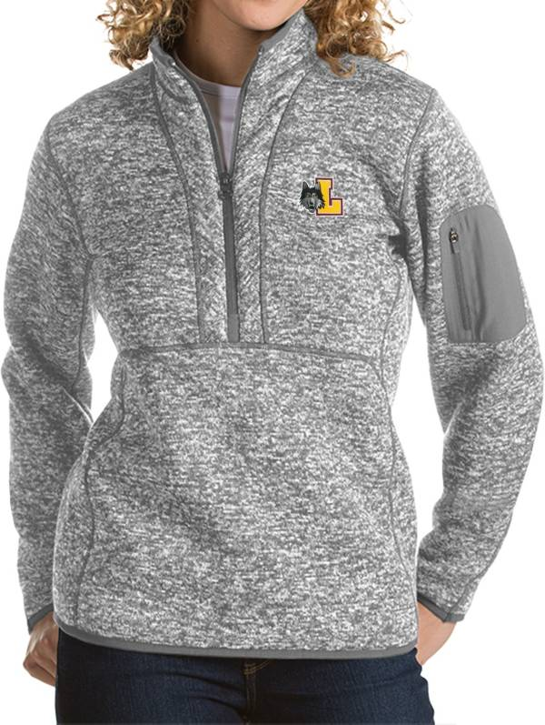 Antigua Women's Loyola Chicago Ramblers Grey Fortune Pullover Jacket product image