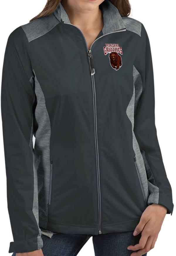 Antigua Women's Montana Grizzlies Grey Revolve Full-Zip Jacket product image