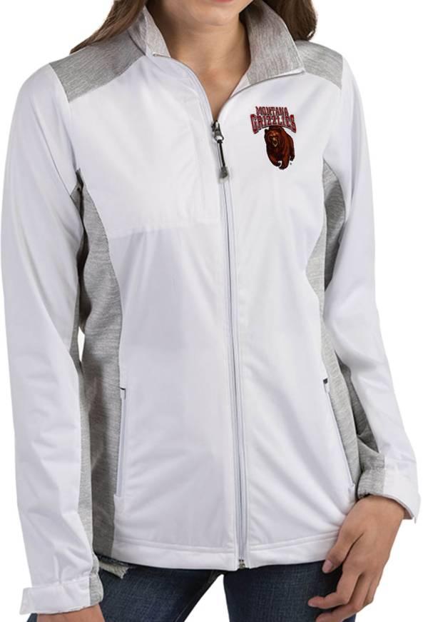 Antigua Women's Montana Grizzlies Revolve Full-Zip White Jacket product image