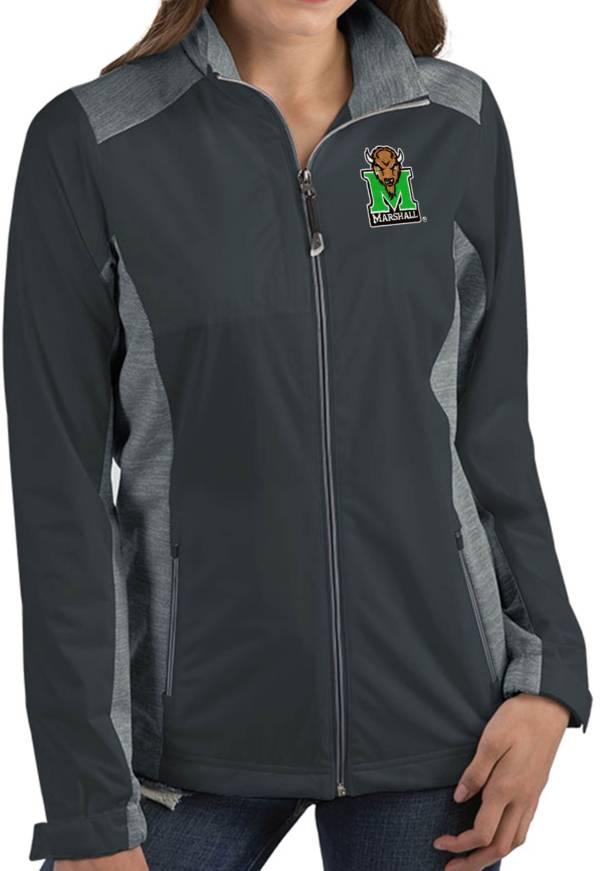 Antigua Women's Marshall Thundering Herd Grey Revolve Full-Zip Jacket product image